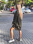 Жіноче видовжене худі oversize на флісі з манжетами, 48-50, хакі, меланж, бежевий (Батал), фото 4
