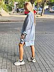 Жіноче видовжене худі oversize на флісі з манжетами, 48-50, хакі, меланж, бежевий (Батал), фото 6