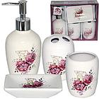 Набір для ванної кімнати Квіти 4 пр SNT 888-06-002
