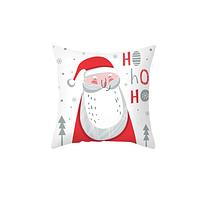 Новогодняя наволочка для подушки с принтом Санты