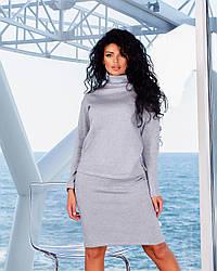 Стильный женский костюм ангора с юбкой TopGirl (Украина) PR-2021grey   1 шт.