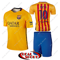 Футбольна форма дитяча Барселона Мессі №10. Гостьова форма 2016