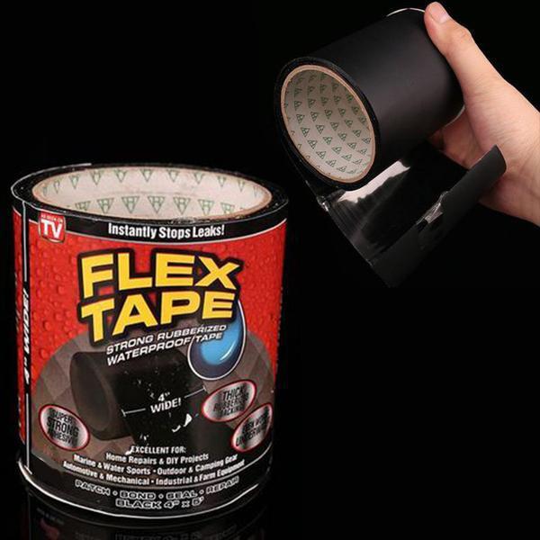 Міцна, прогумована, водонепроникна стрічка Flex Tape 10х150 см (5515)