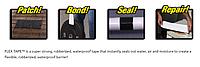 Міцна, прогумована, водонепроникна стрічка Flex Tape 10х150 см (5515), фото 5