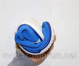 Женские - подростковые мокасины - чешки, летние голубые, фото 3