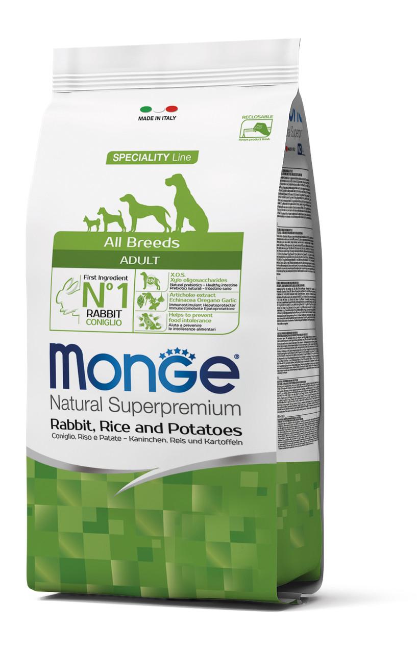 Сухий корм MONGE DOG All breeds Adult качка з рисом 2.5 КГ