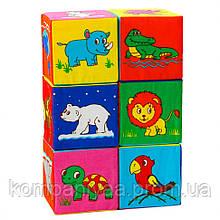 Набір дитячих м'яких кубиків з малюнками МС 090601-11