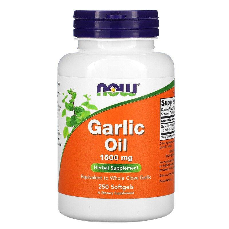 Garlic Oil 1500 мг Now Foods 250 капсул