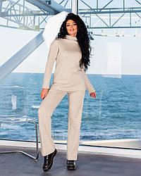 Теплий жіночий костюм з ангори з брюками-кльош TopGirl (Україна) PR-2022coffee | 1 шт.