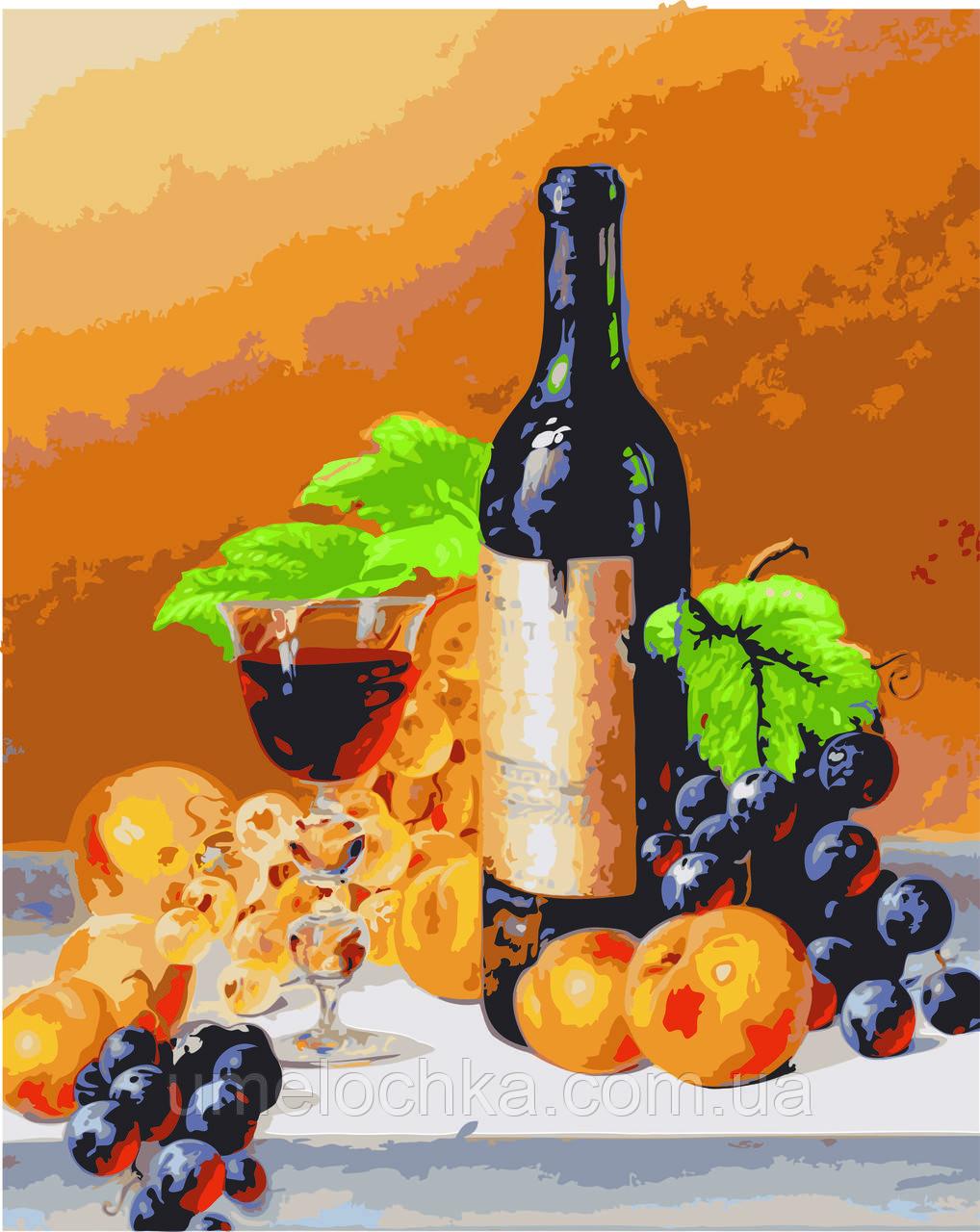 Вертикальная картина раскраска на холсте Аромат вина худ. Ходриен Рой 40 х 50 см KH2066