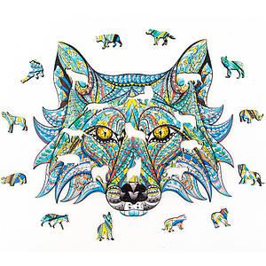 Дерев'яний пазл Alien Puzzle Lesko QJ-266 Wolf тварини головоломка для дітей