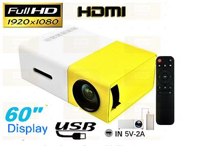 Проектор домашній міні портативний мультимедійний Full HD Led Projector YG300