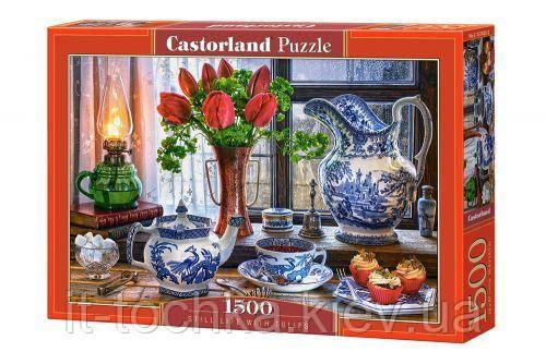 Пазли Вечірнє чаювання 1500 елементів castorland