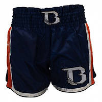 Шорты для тайского бокса и кикбоксинга BOOSTER TBT PRO 4.37 Thai Shorts Синие с оранжевым Таиланд