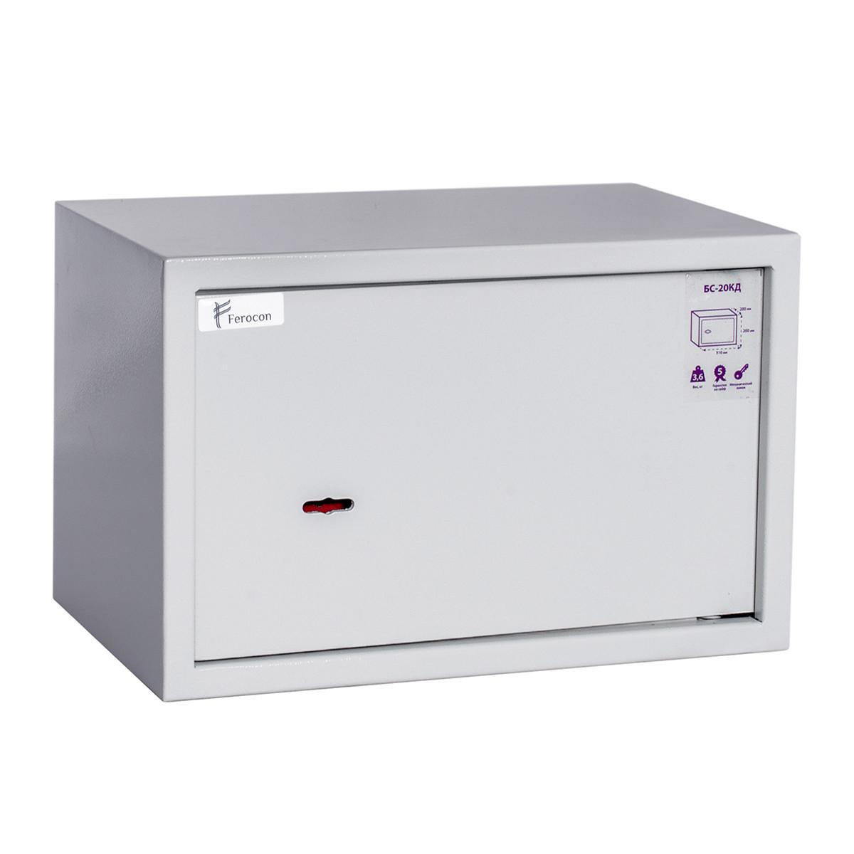 Сейф меблевий Ferocon БС-20КД.7035 з ключовим замком