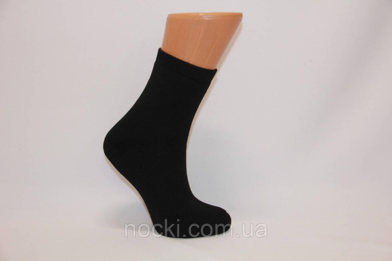 Жіночі шкарпетки махрові середні з бамбука ZG 36-40 чорний