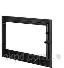 Чугунная дверь для камина KAW-MET W3