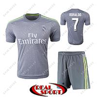 Футбольная форма детская Реал Мадрид Роналдо №7. Гостевая форма 2016