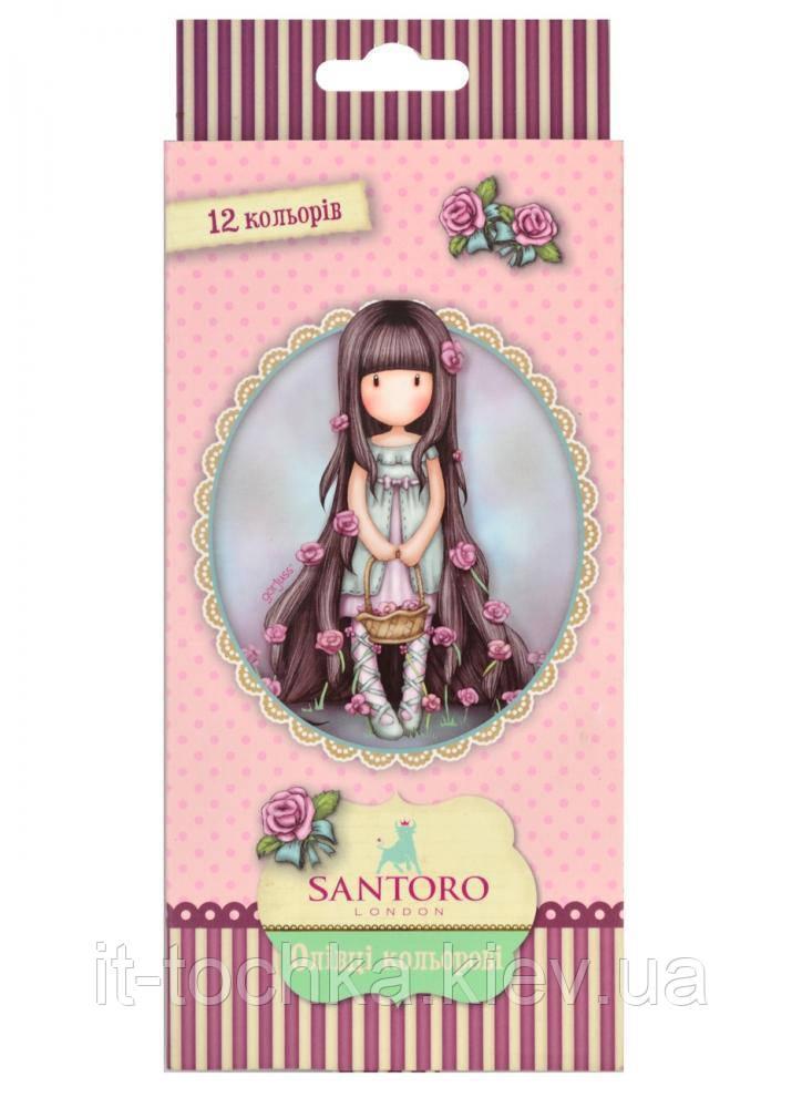 Олівці 12 кол. santoro rosebud yes 290564