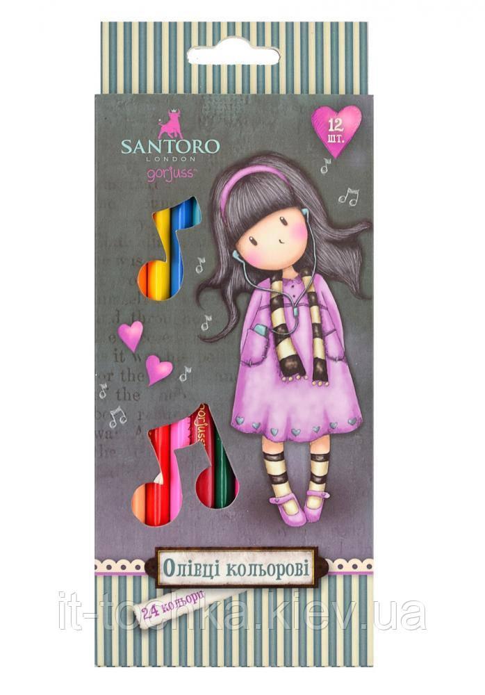 Олівці 12/24 кол. santoro little song yes 290565