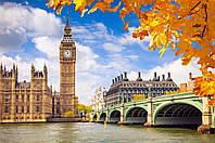 Картины раскраски по номерам пейзажи Осенний Лондон 40 х 50 см KH2134