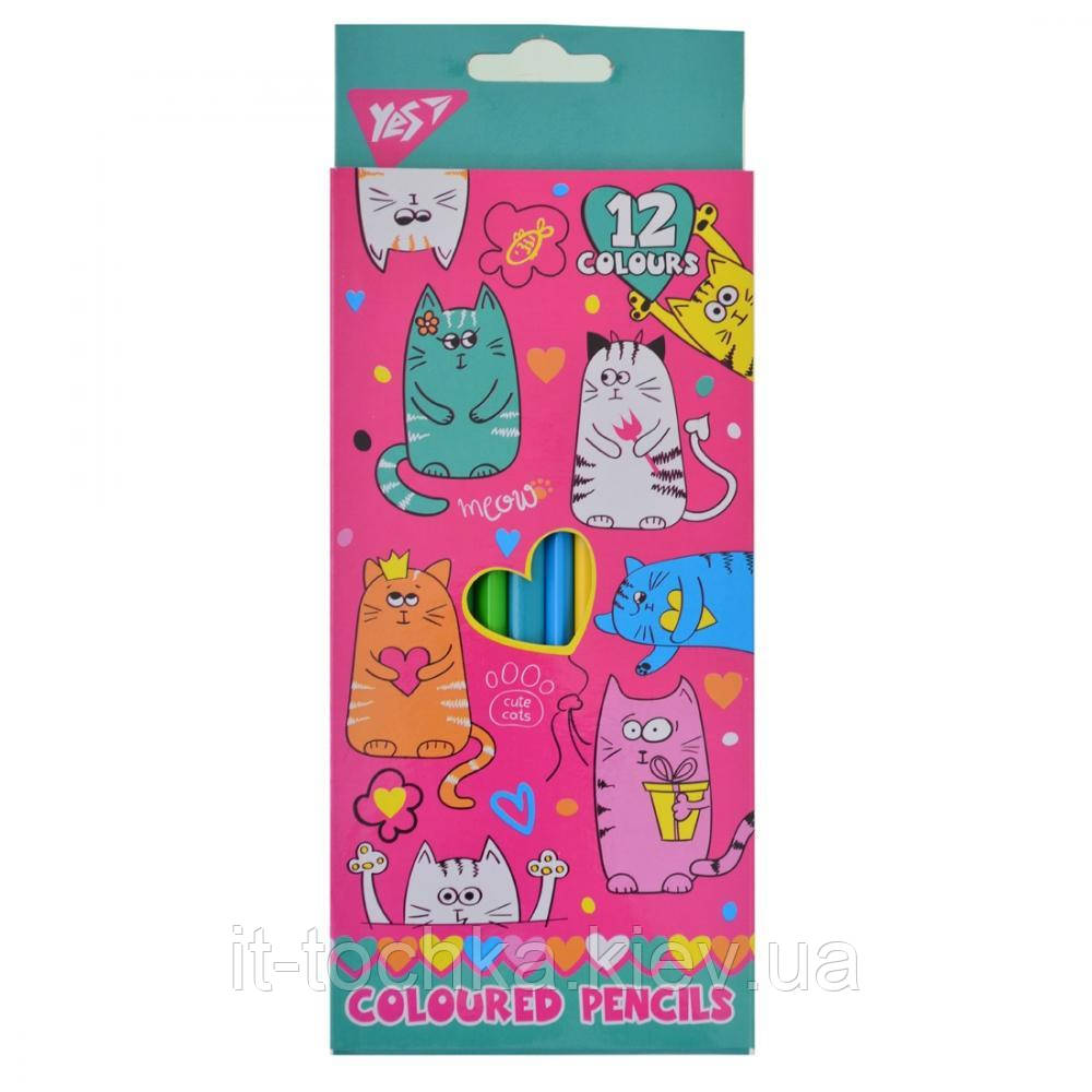 Олівці 12 кол. lovely cats yes 290533