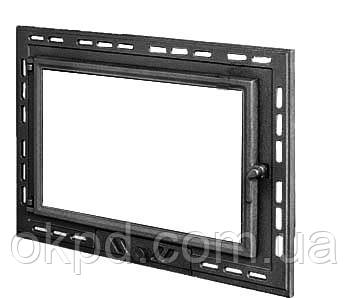 Чугунная дверь для камина KAW-MET W9