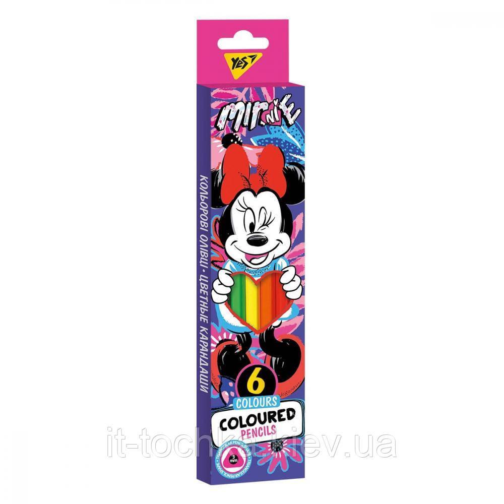 Олівці кольорові yes 6 кол. minnie mouse yes 290650