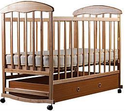 """Детская кроватка """"Наталка"""" с ящиком (ясень светлый)"""