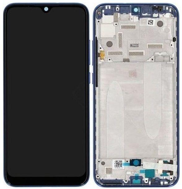 Дисплей Xiaomi Mi A3, Mi CC9e з тачскріном і рамкою, оригінал, Blue