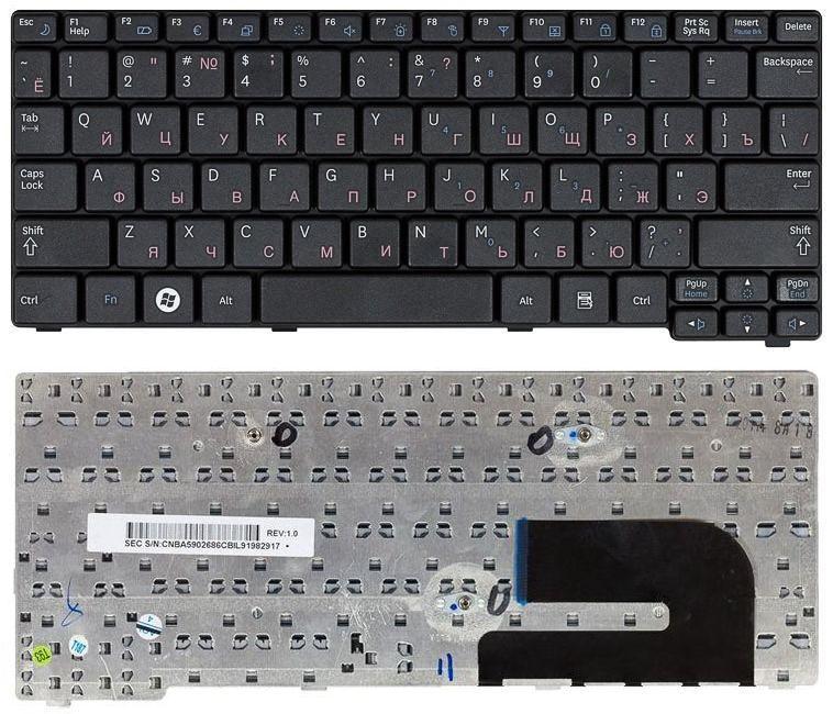 Клавиатура для ноутбука Samsung N140 N150 N145 N144 N148 черная