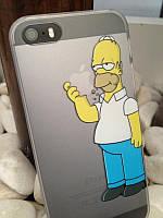 Чехол Iphone 4 серия Симпсоны Гомер кушает яблоко