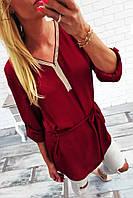 """Стильная женская рубашка-туника 500 """"Фэшн Стразы"""" в расцветках"""