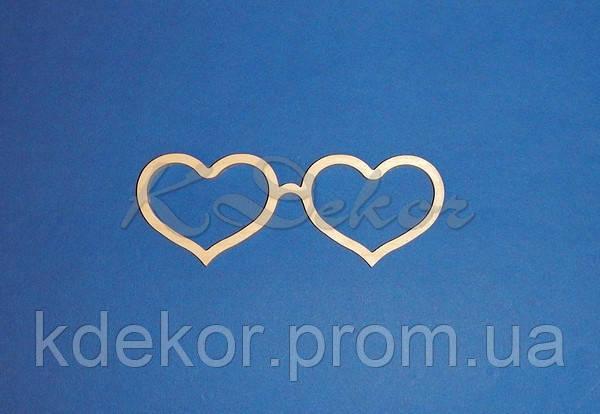 Окуляри сердечка №7 заготівля для декору