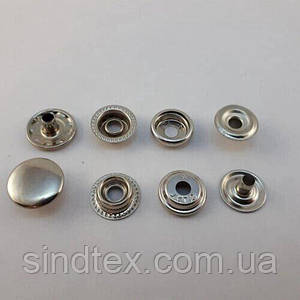 Кнопка №61 15мм Никель (50шт.) (СТРОНГ-0791)