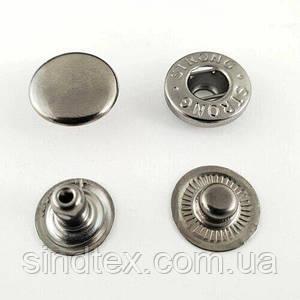 Кнопка АЛЬФА - 15мм  Блэк никель (50шт.) (СТРОНГ-0783)