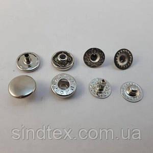 Кнопка Альфа 10мм Никель VT-2 (50шт.) (СТРОНГ-0761)