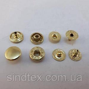Кнопка Альфа 10мм Золото VT-2 (50шт.) (СТРОНГ-0760)