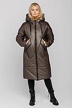 Жіноче зимове пальто Климента, колір кава