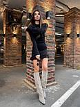 Жіноча коротке плаття з Ангори з рюшів (в кольорах), фото 7