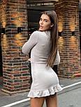 Жіноча коротке плаття з Ангори з рюшів (в кольорах), фото 4
