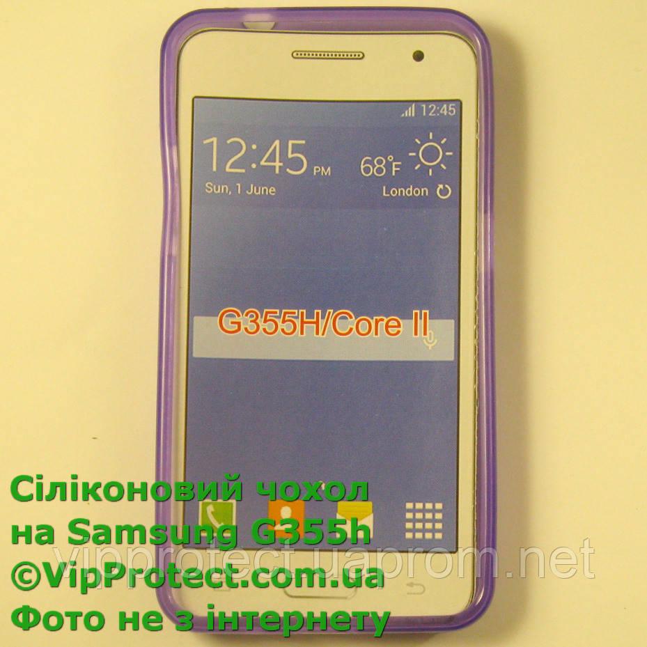 Samsung G355H, сиреневый_силиконовый чехол Core II