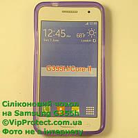 Samsung G355H, сиреневый_силиконовый чехол Core II, фото 1