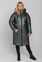 Жіноче зимове пальто Климента, колір олиивка