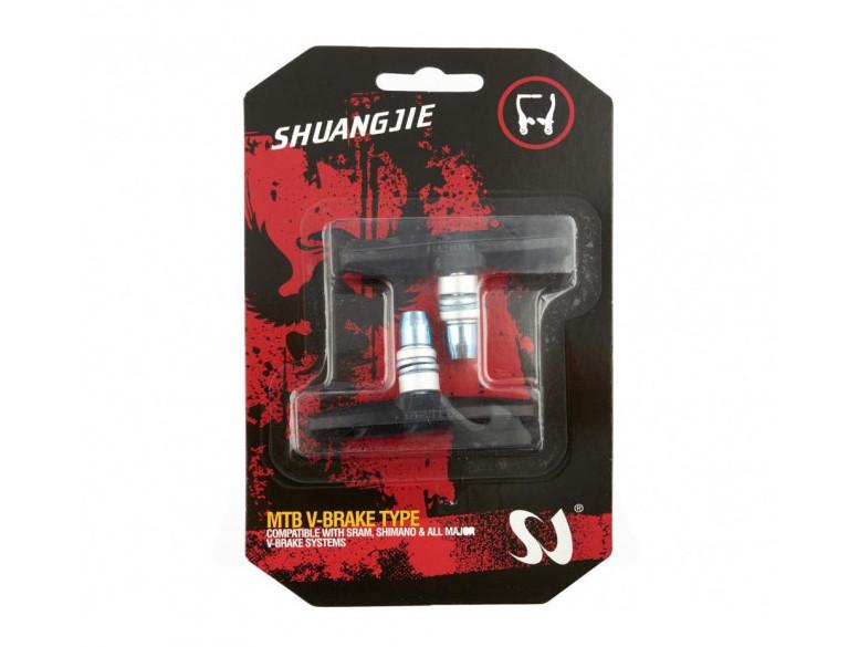 Колодки гальмівні велосипедні Shuangjie ободні V-brake чорні (ZP-003 )