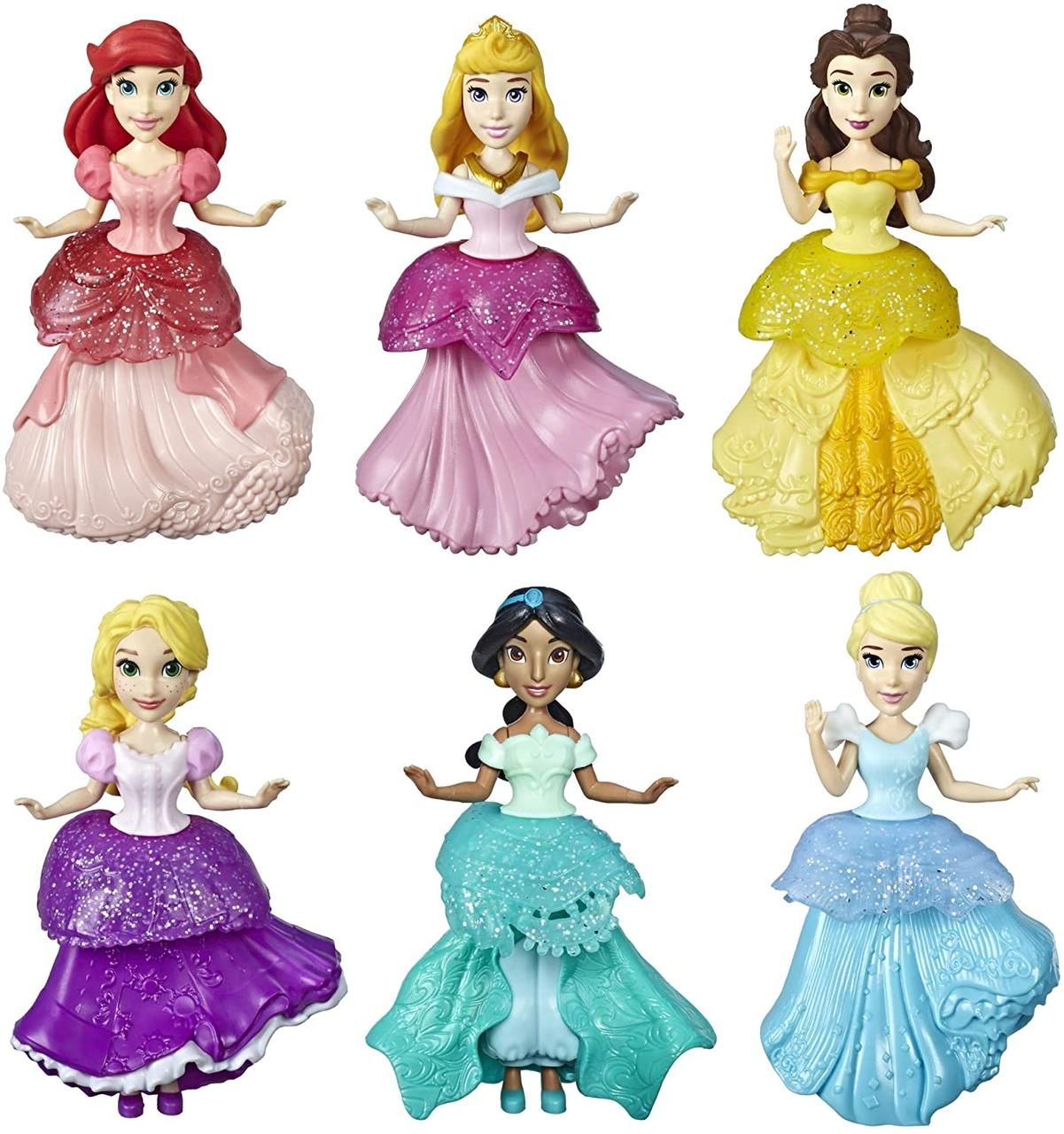 Набор принцесс с платьями клипс 6 штук Disney Princess Royal Clips Оригинал из США