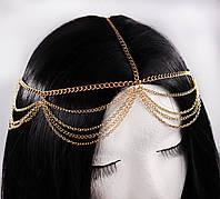 Прекрасна тика прикраса на голову Тіара (золото) №82