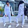 Женский зимний прогулочный спортивный костюм: кофта-батник с капюшоном и штаны с начесом, норма и полубатал, фото 4