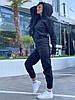Женский зимний прогулочный спортивный костюм: кофта-батник с капюшоном и штаны с начесом, норма и полубатал, фото 7