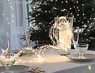 Гирлянда Конский хвост 400 LED, 14 нитей, Золотая (Желтая, Теплый белый), проволока, от сети, 3м., фото 4